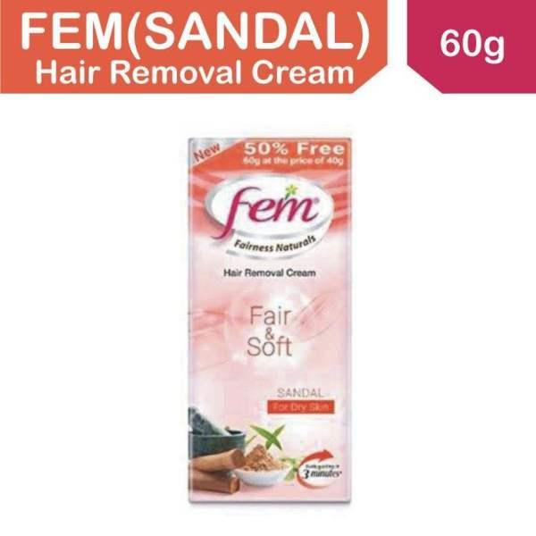 Buy FEM FAIRNESS NATURAL HAIR REMOVAL CREAM FAIR & SOFT SANDAL FOR DRY SKIN Singapore