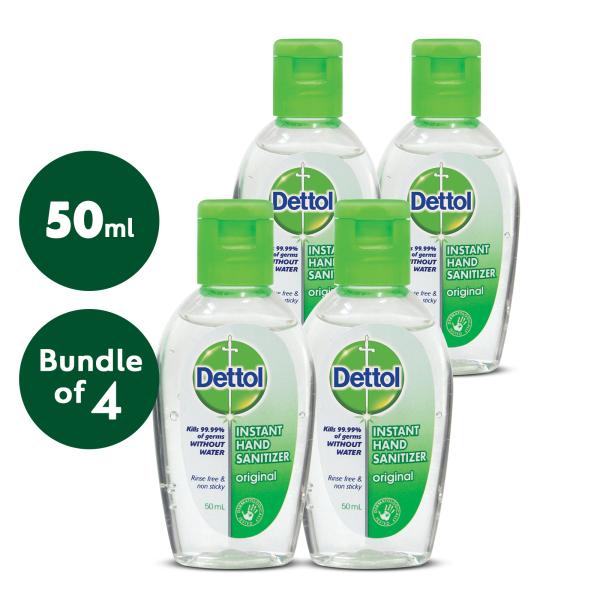 Buy [Bundle of 4] DETTOL HAND SANITIZER ORIGINAL 50ML Singapore