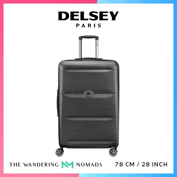 Delsey Comete 78cm 4 Double Wheels Trolley Case Luggage 28inch - Black