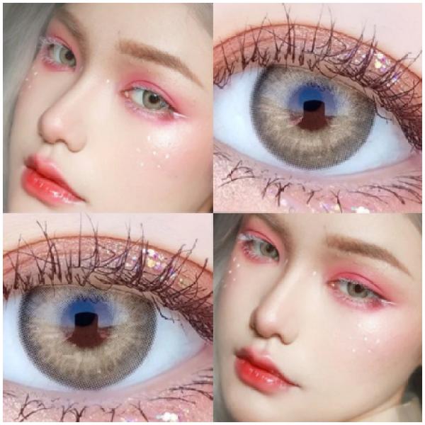 Buy Natural Tone Color Eye Contact Lenses, 2pcs/pair STYLE: NATURAL BROWN Singapore