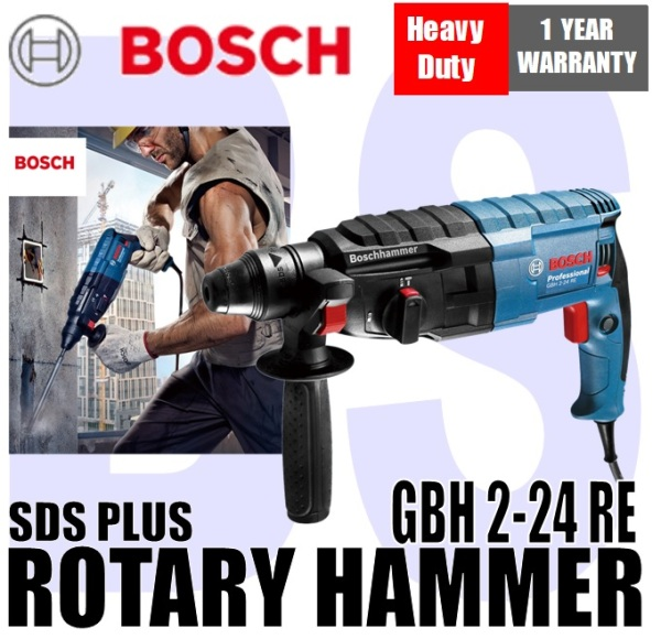 [BIRTHDAY SALE] BANSOON BOSCH GBH 2-24RE Rotary Hammer with SDS Plus. 790W. reversible rotation. 2-speed control.