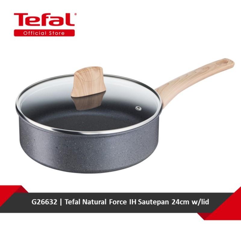 Tefal Natural Force IH Sautepan 24cm w/lid G26632 Singapore