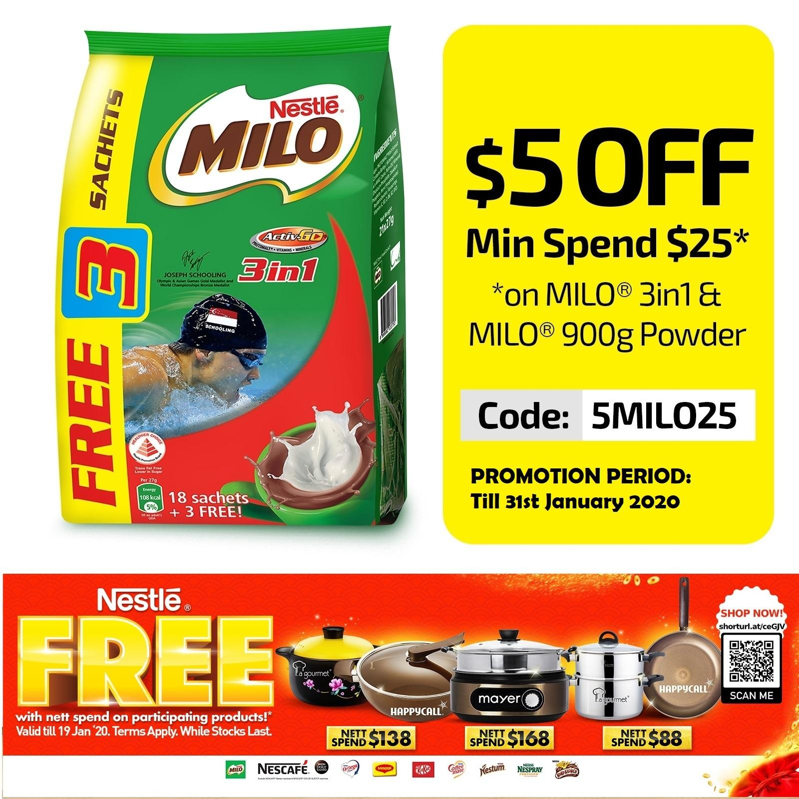 MILO 3 In 1 ACTIVGO (Free 3S Promo Pack)