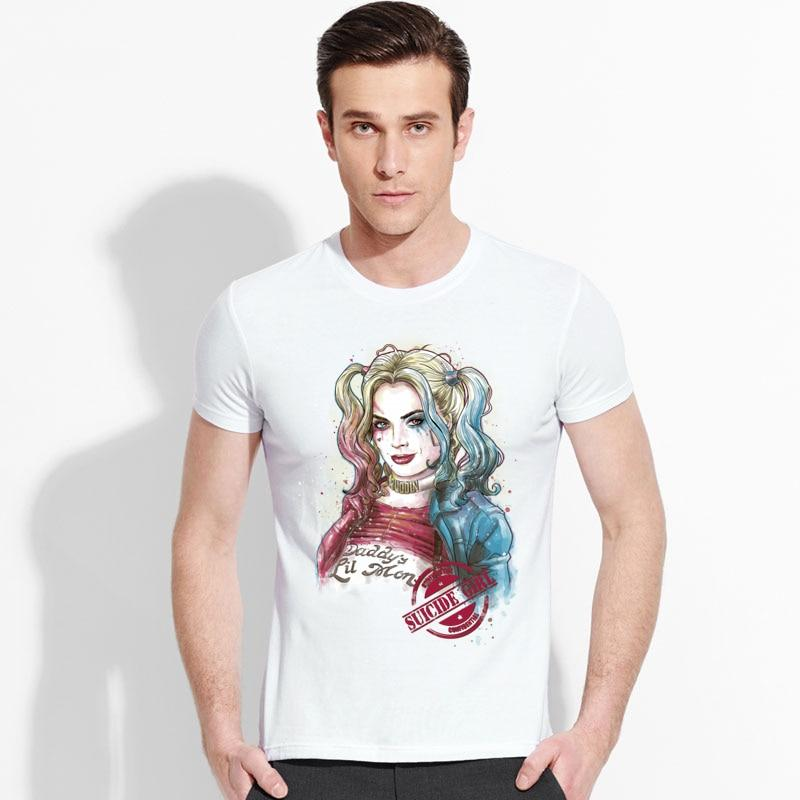 5ccd6ab48 Suicide Squad T Shirt Harley Quinn T-shirt Joker Cool Novelty Funny Hip Hop  Pop