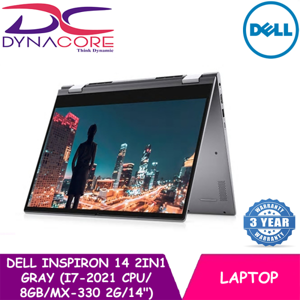 DYNACORE - [NEW 2021 MODEL] DELL INSPIRON 14 2in1 Gray (i7-2021 CPU | 8GB | 512GB | MX-330 2G | 14 | WIN-10 | MS-OFFICE 365P) 3YRS WRNTY