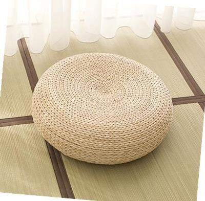 Straw Futon throw pillow Thickening Circle Tatami Coaster Japanese Style Rattan Meditation Pad Tea Ceremony Floor Stool