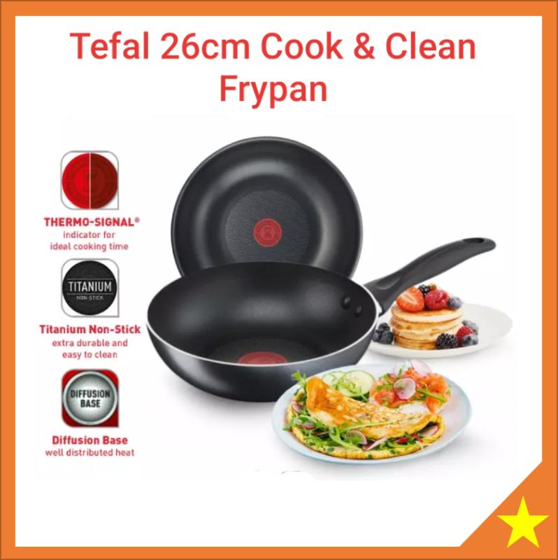 Tefal Cookware Cook & Clean Frypan Frying Pan 26cm B22505 Singapore