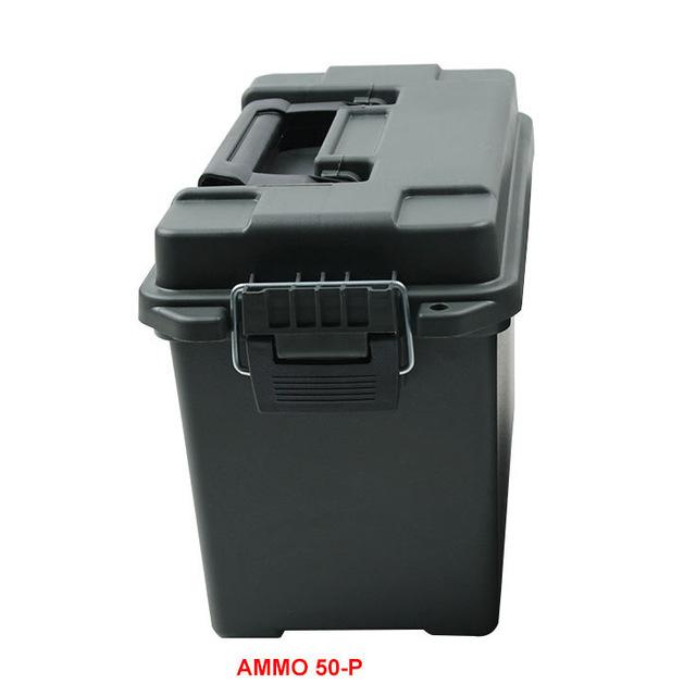 Ammo Box Military Style Plastic Storage Can Heavy Duty Caliber Bulk Ammo Crate Lightweight Storage Case Tactical Bullet Box