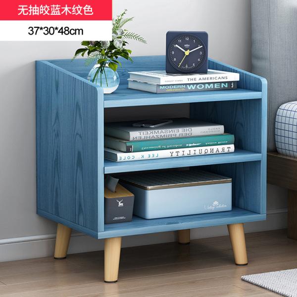 Simplicity Bedside Table Minimalist Modern Multi-functional Economy Bedroom Storage Storage Storage Shelf Imitation Wood Small Cabinet