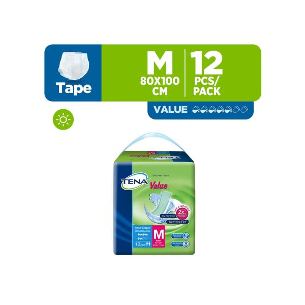Buy TENA Value Adult Diapers - M Singapore
