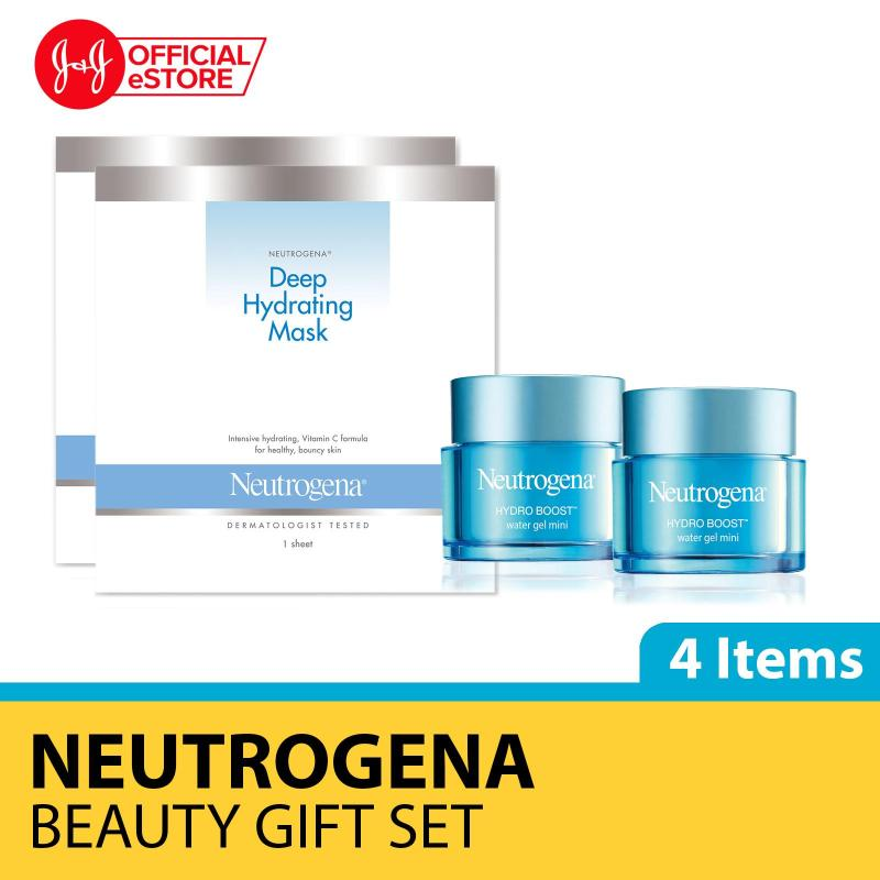 Buy [Xmas Gift] Secret Santa Gift Set: Neutrogena Water Gel 15g x 2 and Hydrating Mask x 2 Singapore