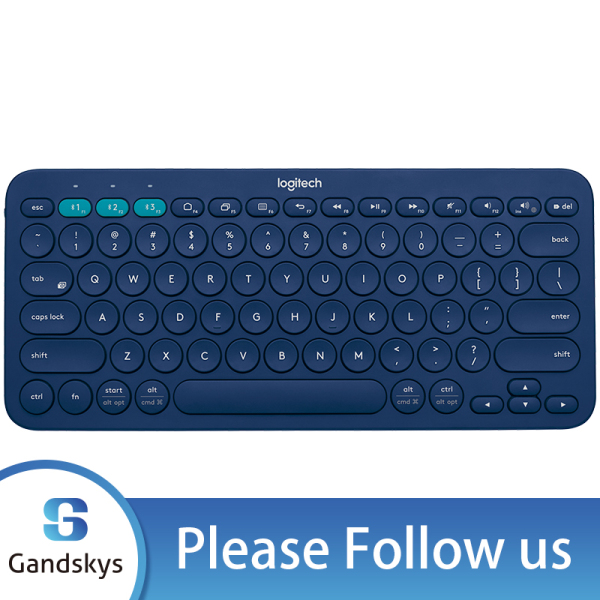 Logitech K380 Multi-Device Bluetooth Keyboard Multi-Device For Windows MacOS Android iOS – FLOW Cross-Computer Control and Easy-Switch up to 3 Devices-Blue Singapore