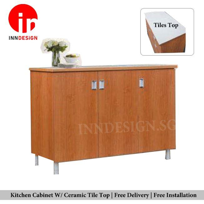 Samuel Kitchen Cabinet with Ceramic Top  (Free Delivery and Installation) (Delivery Within 1 Day)