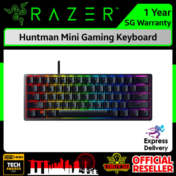 Razer Huntman Mini Type-C Gaming Keyboard 3PM.SG 12BUY.SG 1 Years SG Warranty Express Door Delivery Singapore
