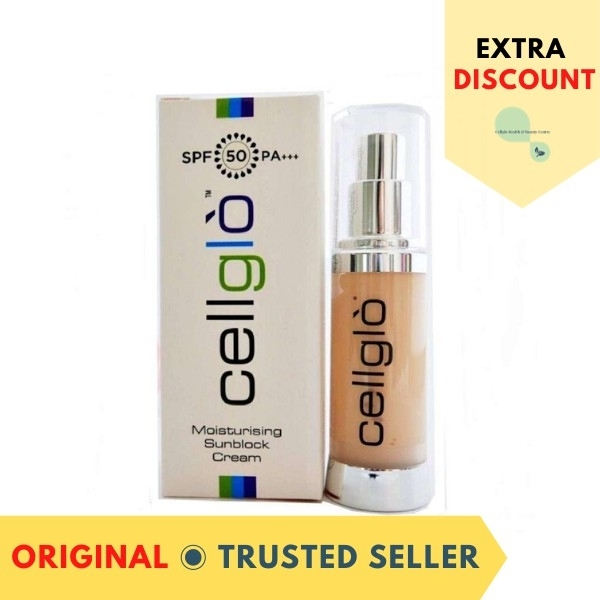 Buy [Trusted Seller] Cellglo Moisturising Sunblock Cream (With Bar Code 无割码) Singapore