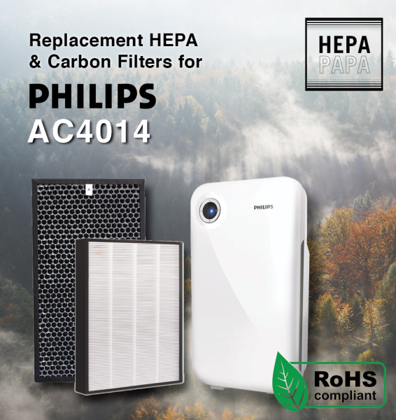Philips AC4014 AC4143 AC4144 Compatible Replacement HEPA & Carbon Filters [Free Alcohol Swab] [SG Seller] [7 Days Warranty] [HEPAPAPA] Singapore