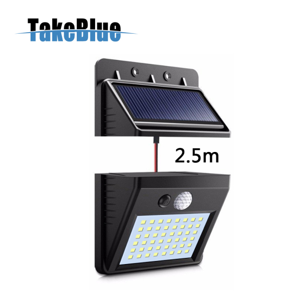 TakeBlue Solar Led Outdoor Garden Light Motion Sensor 48 Led 3 Modes Separable Waterproof Solar Panel With 2.5M / 5M Extension Cable