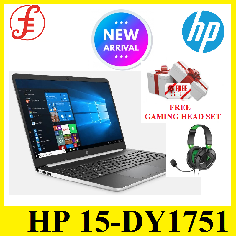 HP 15-DY1751 TOUCHSMART 10 GEN Core™ i5-1035G1 1GHz, 512GB SSD 8GB 15.6 TOUCHSCREEN BT, WIN10 Webcam NATURAL SILVER
