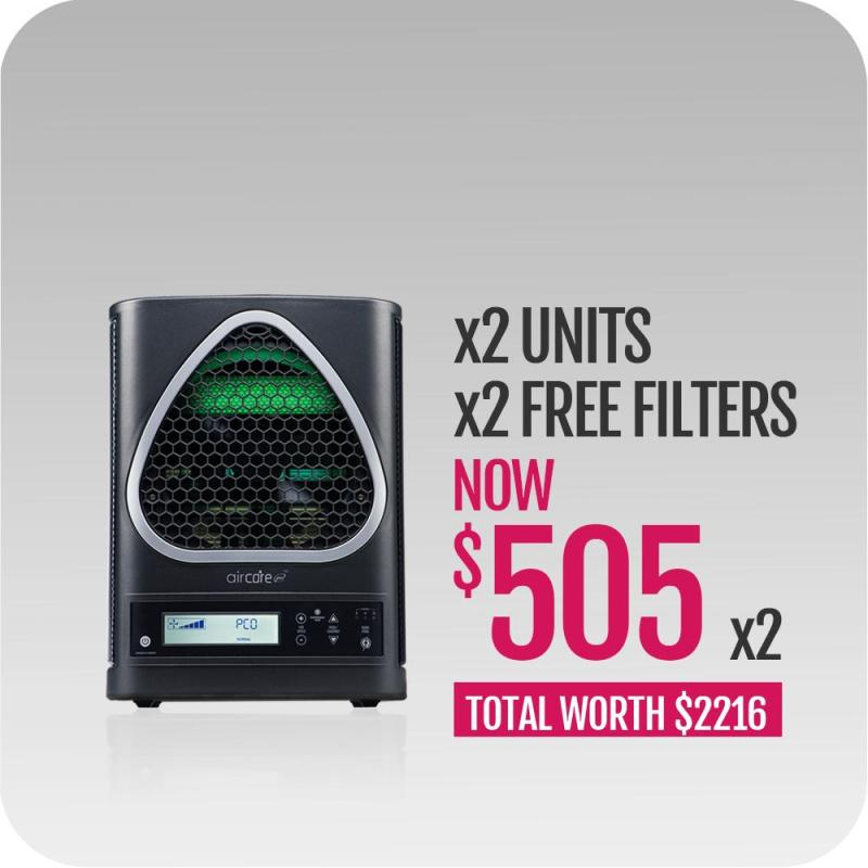 novita AirCare Pro™ Air/Surface Sterilizer NAS6000i Twin Pack with FOC Redemption Filter x 2 Singapore