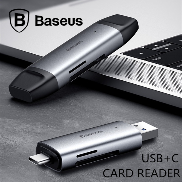 BASEUS SD/TF Card Reader USB3.0 Type-C Lentil Cabin Phone Laptop Mac Pad Tablet