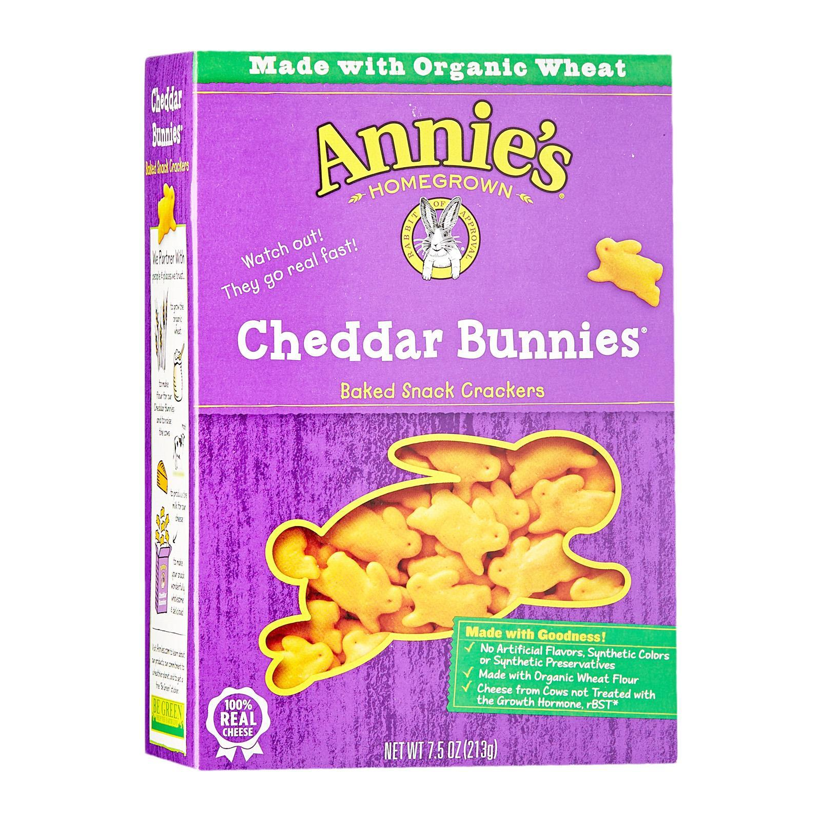 Annie's Homegrown Cheddar Bunnies - By Wholesome Harvest