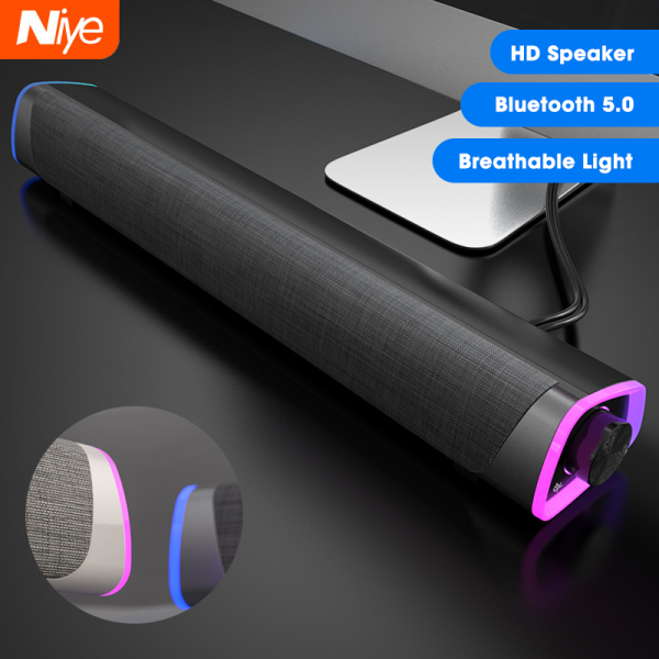 【Ready Stock+Flash Deal】Niye Wireless Bluetooth Speakers USB Wired Computer Speaker 3D Stereo Bass Surround Subwoofer 3.5mm Jack Audio