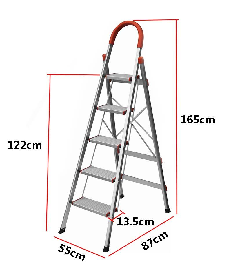 Aluminium Household 5/6 Steps Ladder