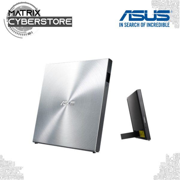 ASUS SDRW-08U5S-U - ultra-slim portable 8X DVD burner with M-DISC support for lifetime data backup, and compatible for Windows and Mac OS
