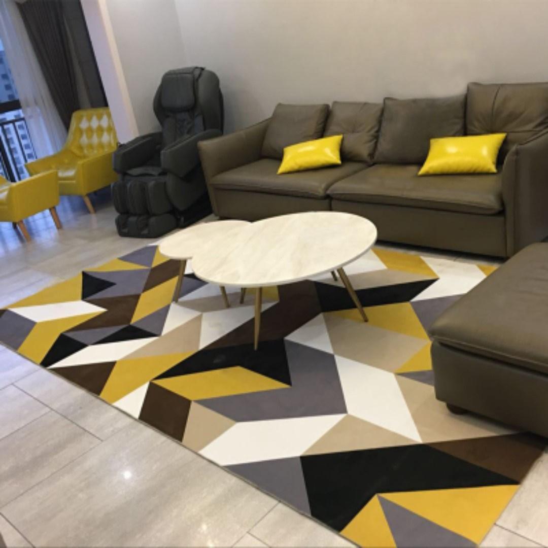 SINGAPORE SELLER*Modern Anti Slip Nordic living room carpet(140*200CM)