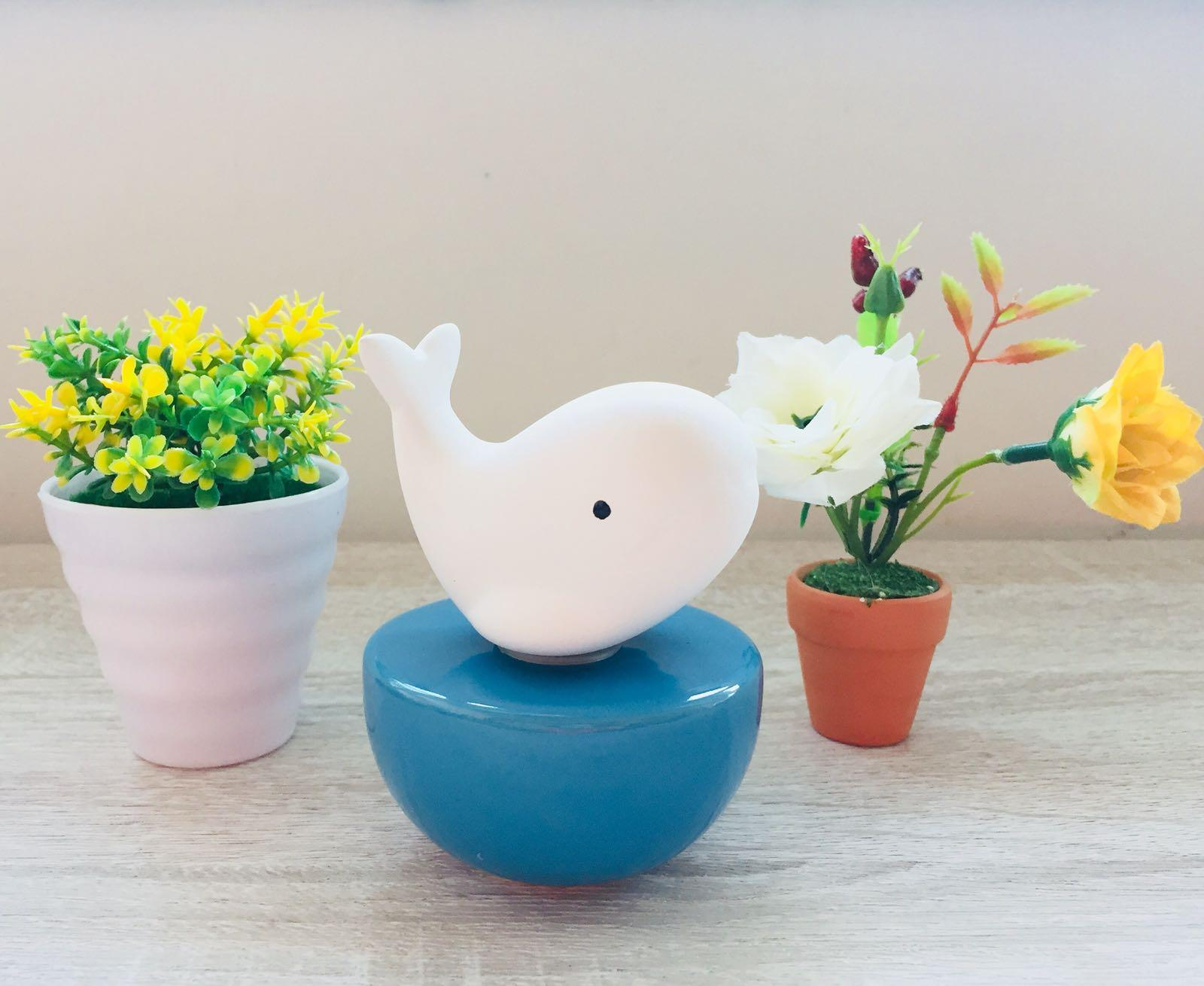 Best Gift Idea - Ceramic Fragrance Diffuser Whilly Whale Set (Free Fragrance Oil 60ml)