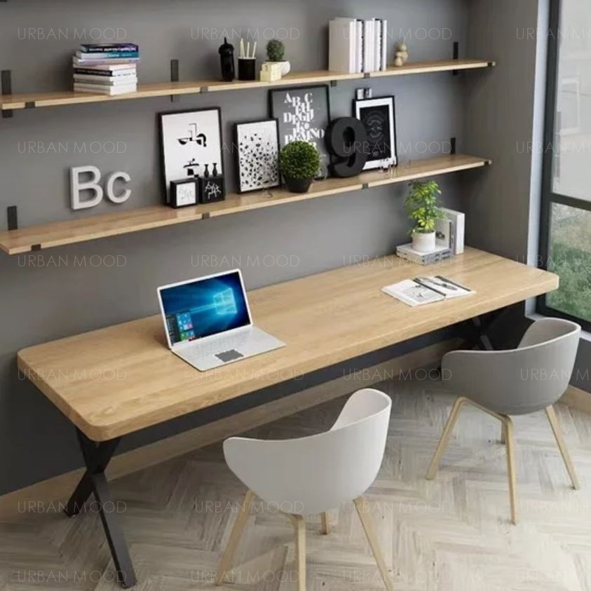FIRENZE Modern Industrial Office Study Wooden Table