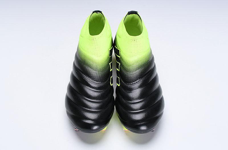 Penawaran Terbaru 2019 Adidas_Kappa_19 + Primeknit_No Shoelaces Black Green Sepatu Sepak Bola FG / Sepatu Sepak Bola / Sepatu Pelatihan Game Adidas_Copa 19+ FG 39-45