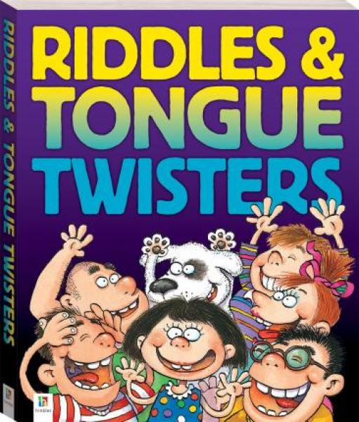 Cool Tongue Twisters and Riddles (large, 160pp) - With Cool Riddles and Tongue Twisters, youll discover rollicking, riotous, ridiculous, rowdy, rib-tickling riddles, along with tortuous, tricky, troublesome, tough, tremendous, terrific tongue twisters!
