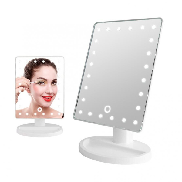 Buy New 24 LED lights with base desktop rotatable mirror (Battery style) - KW033 Singapore
