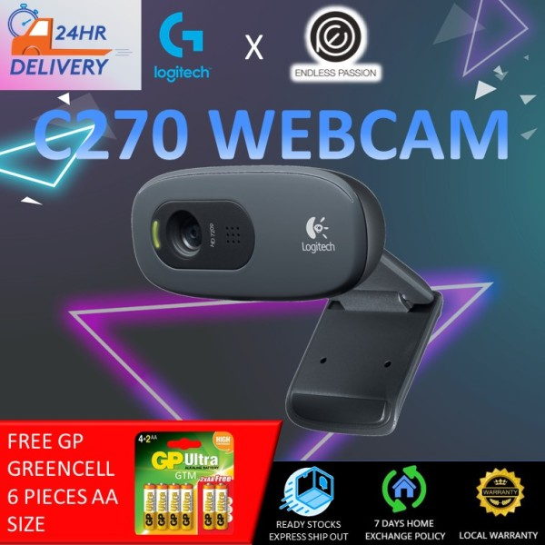 Logitech C270 Plug and play HD 720p video calling webcam [24 hours delivery]