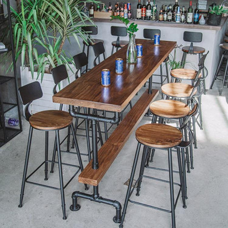 Bar Tables American Iron Art Solid Wood Bar Tables And Chairs Cafe against the Wall Bar Tables Customizable Bar Tables