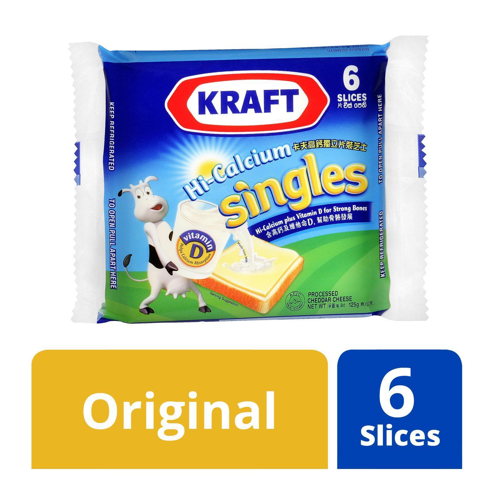 Kraft Hi- Calcium Singles Cheese Slices - 6 Slices