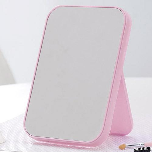 Basic Standing Mirror With Adjustable Stand - Pink By Hippomart.sg.