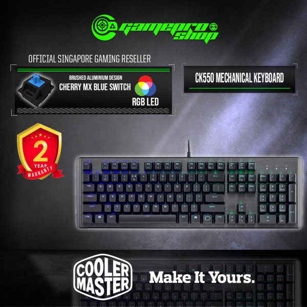CoolerMaster Masterkeys CK550 RGB Gateron RED / BROWN / BLUE ) MECHANICAL GAMING KEYBOARD (2Y) Singapore