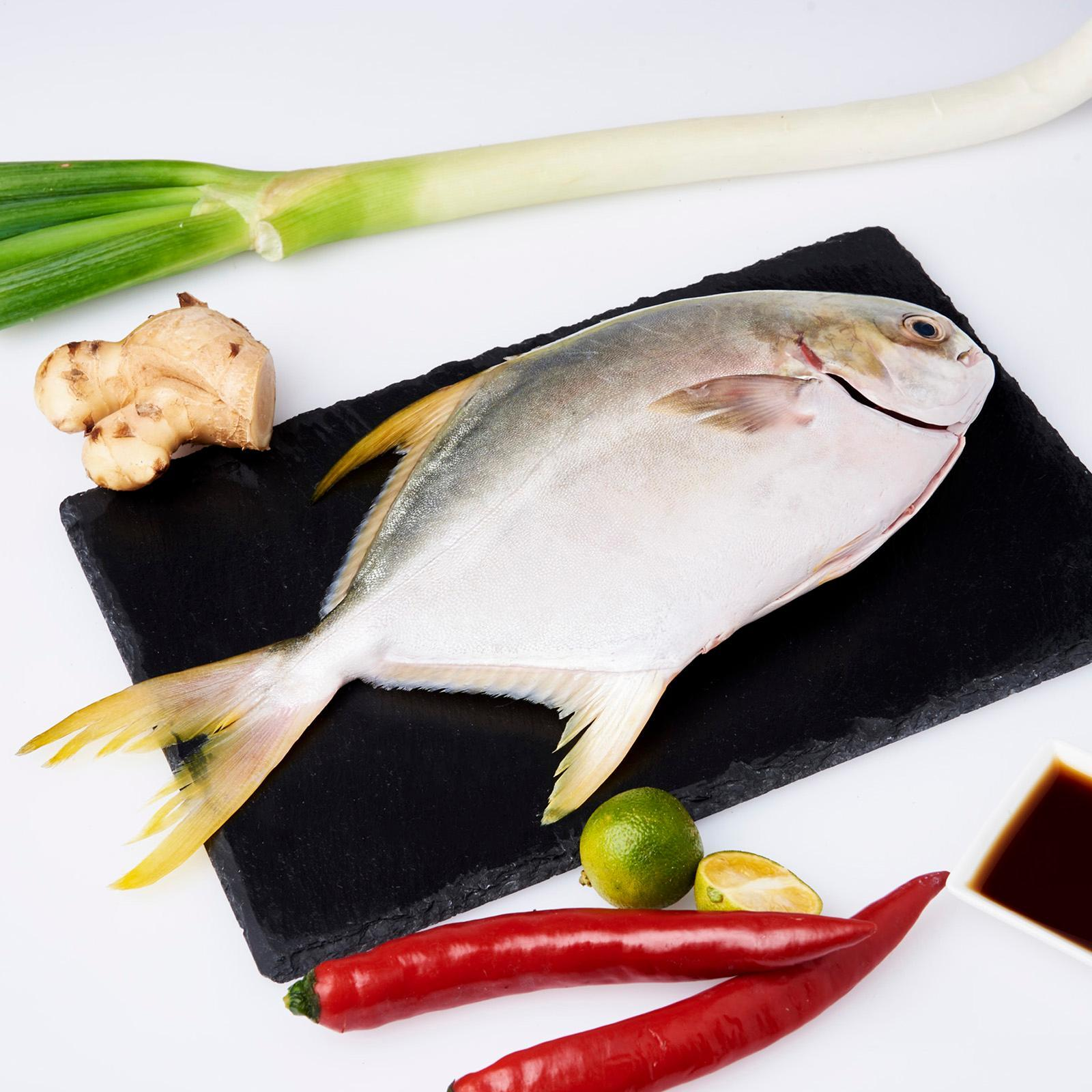 Serve By Hai Sia Seafood Golden Pomfret (scaled And Gutted) - Fresh By Redmart.