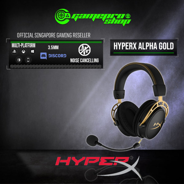 HyperX Cloud Alpha Limited Edition Gold Gaming Headset - HX-HSCA-GD/NAP (2Y)