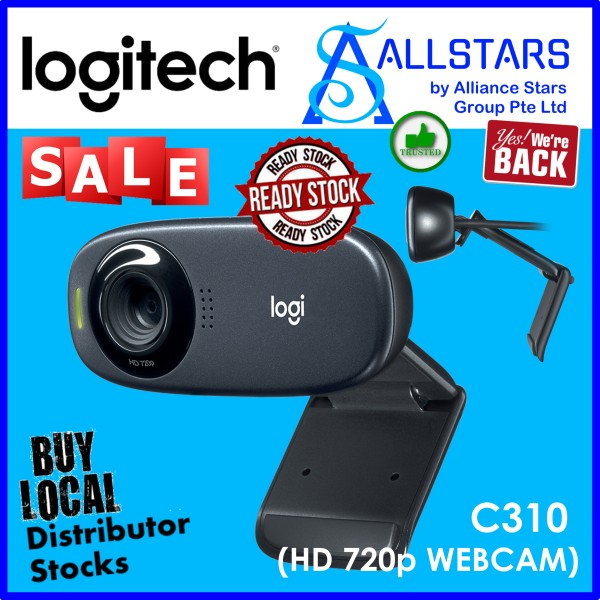 (ALLSTARS : We are Back / Conference Promo) LOGITECH C310 HD 720p Webcam (960-000588) Local Warranty 2years with BanLeong