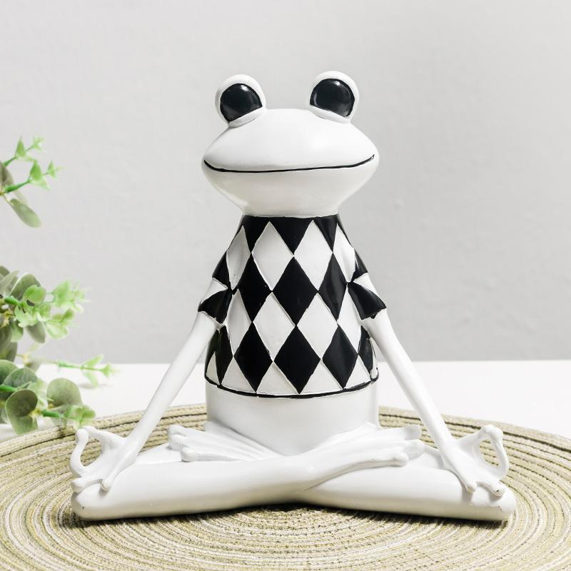 Rural Frog Ornaments Book Bar Locker Cute Fresh Fruit Milk Tea Shop Small Fresh Decorations Living Room TV Cabinet Wine Cabinet Small Display