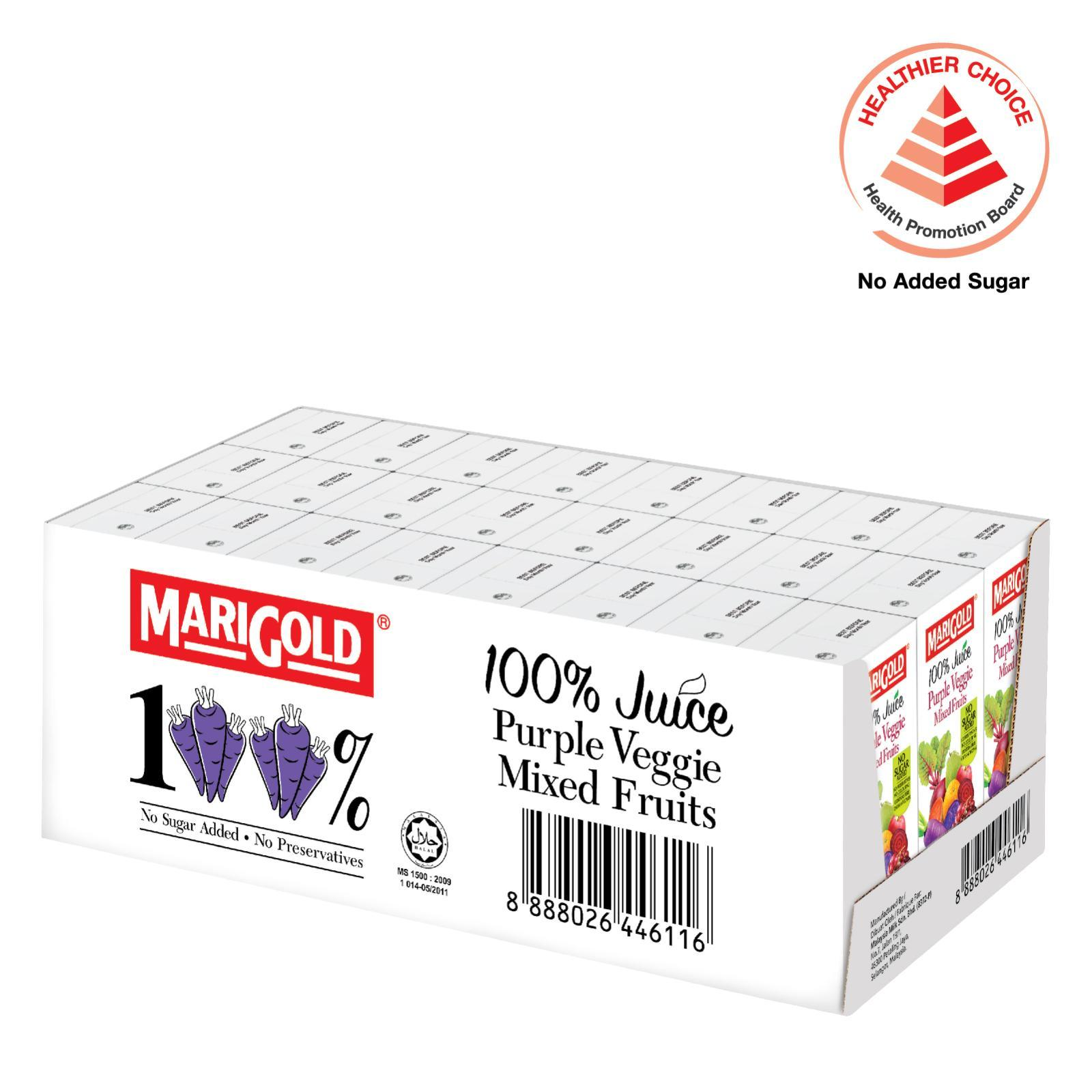 MARIGOLD 100% Purple Veggie Mixed Fruits Juice-Case