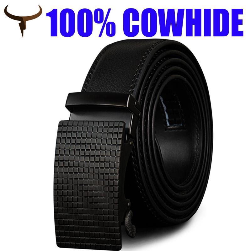 Cowather Men Leather Belt Full 100% Cow Leather Belts For Men With Automatic Slide Buckle Jeans Waist Belts For Men By Eagowee Store.