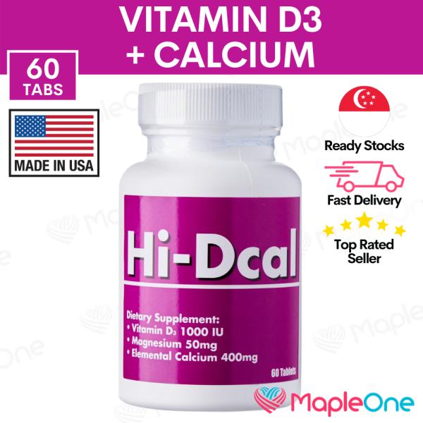 Buy Hi-Dcal Calcium + Vitamin D3 1000 IU Multivitamin Supplement | Magnesium Bone Health & Muscle Relaxation | Hi Dcal MapleOne Singapore