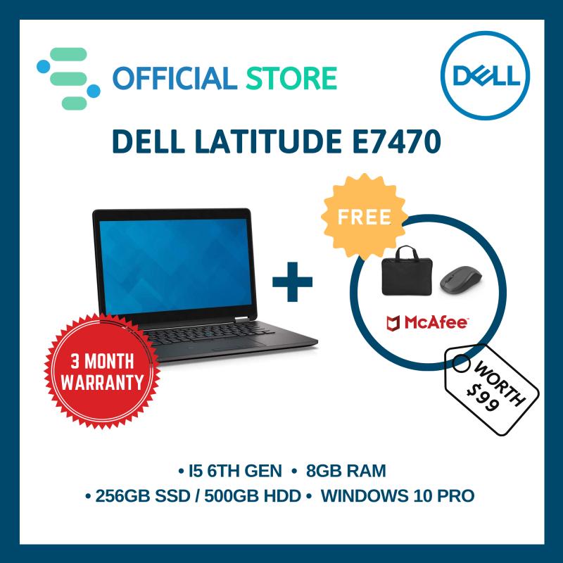 [Refurbished]DELL LATITUDE E7470 | 14 INCH | Intel i5-6300U 6th Gen | 8GB Ram | 500GB HDD | 90 Day Warranty | FREE Laptop Bag + Wireless Mouse + Anti-Virus
