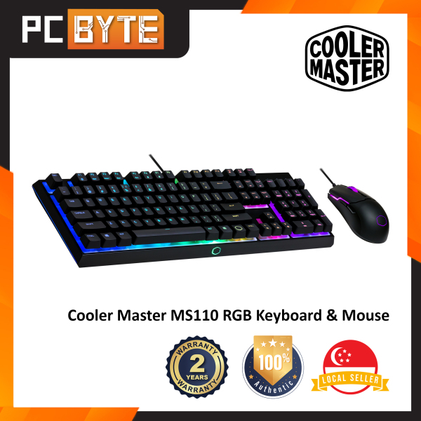 Cooler Master MS110 - Mem-Chanical Switch RGB Gaming Keyboard & Mouse Combo Singapore