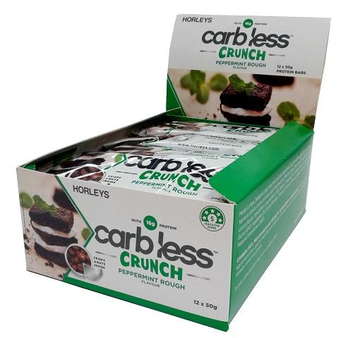 Horleys Carb Less Crunch Bars (12 Bars In 1 Box) - Peppermint Rough By 360activ.sg.