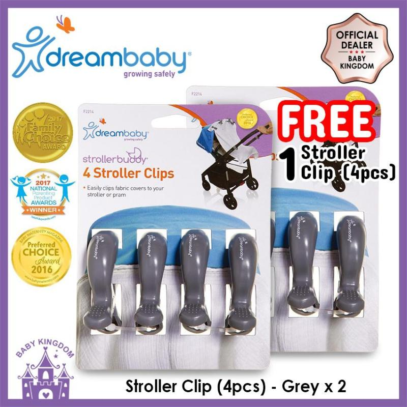 [BUY 1 FREE 1] Dreambaby Stroller Buddy Stroller Clip Collection (4pcs) Singapore